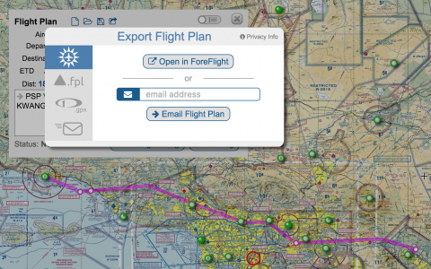 SkyVector now can export flight plans to ForeFlight, Garmin, Dynon