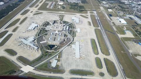 Over Tampa International Airport