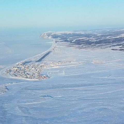 Unalakleet Airport looking North