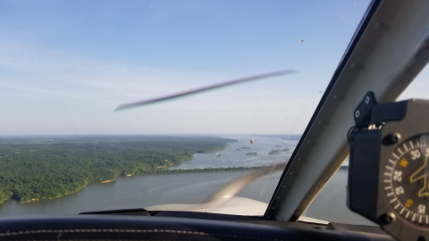 Houston County over water