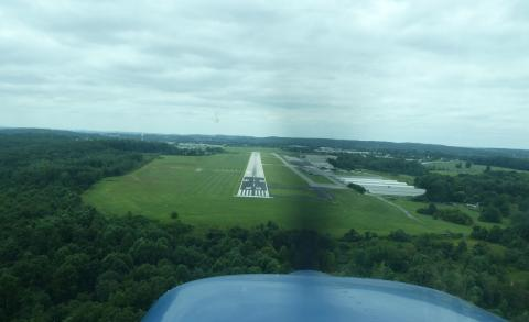 Runway 29 at Chester County, PA KMQS