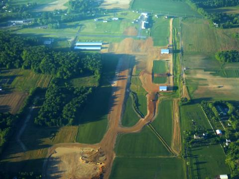 Harford Co. Airport, MD under construction May '19