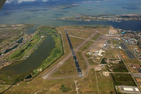 Runway Aerial at KGLS