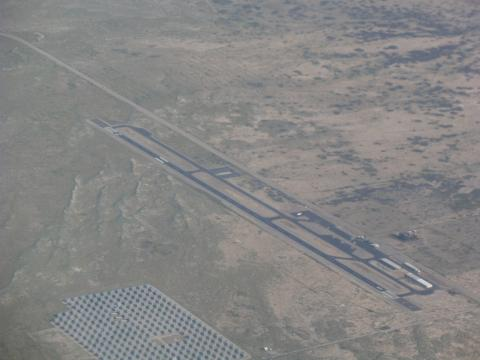 Borrego Valley Airport from 7500ft