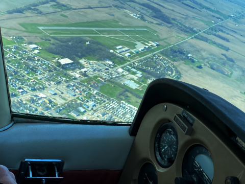 Urbana Grimes from the Southeast flying in a 172L