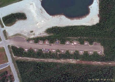 vertical of airpark at FAI