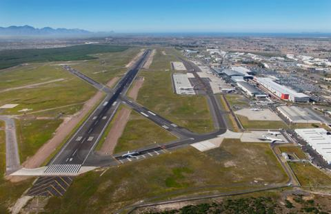 Aerial view of Cape Town International