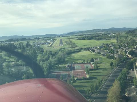 Landing RWY 34