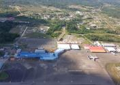 Johan Adolf Pengel Airport seen from 1000Ft