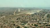 Approaching Runway 23 at Luanda Airport, Angola