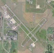 Bismark Airport overhead