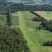 Aerial view of airport Burner (VG55) looking North