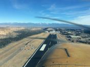 Departing Los Alamos (KLAM)