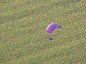 Hang glider landing at Smyrna Airport